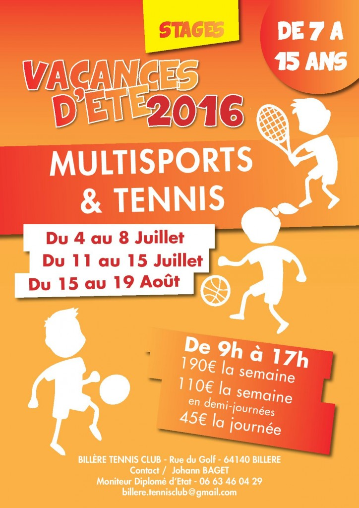 Stage tennis et multi-sports